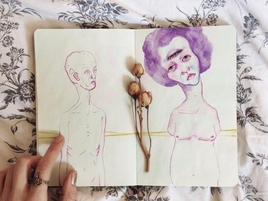 """""""Sketchbook"""" by Maegan Monico."""