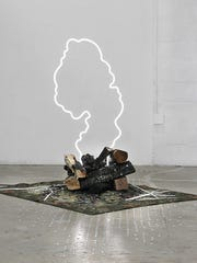 """Where There's Smoke, There's Fire,"" installation of"