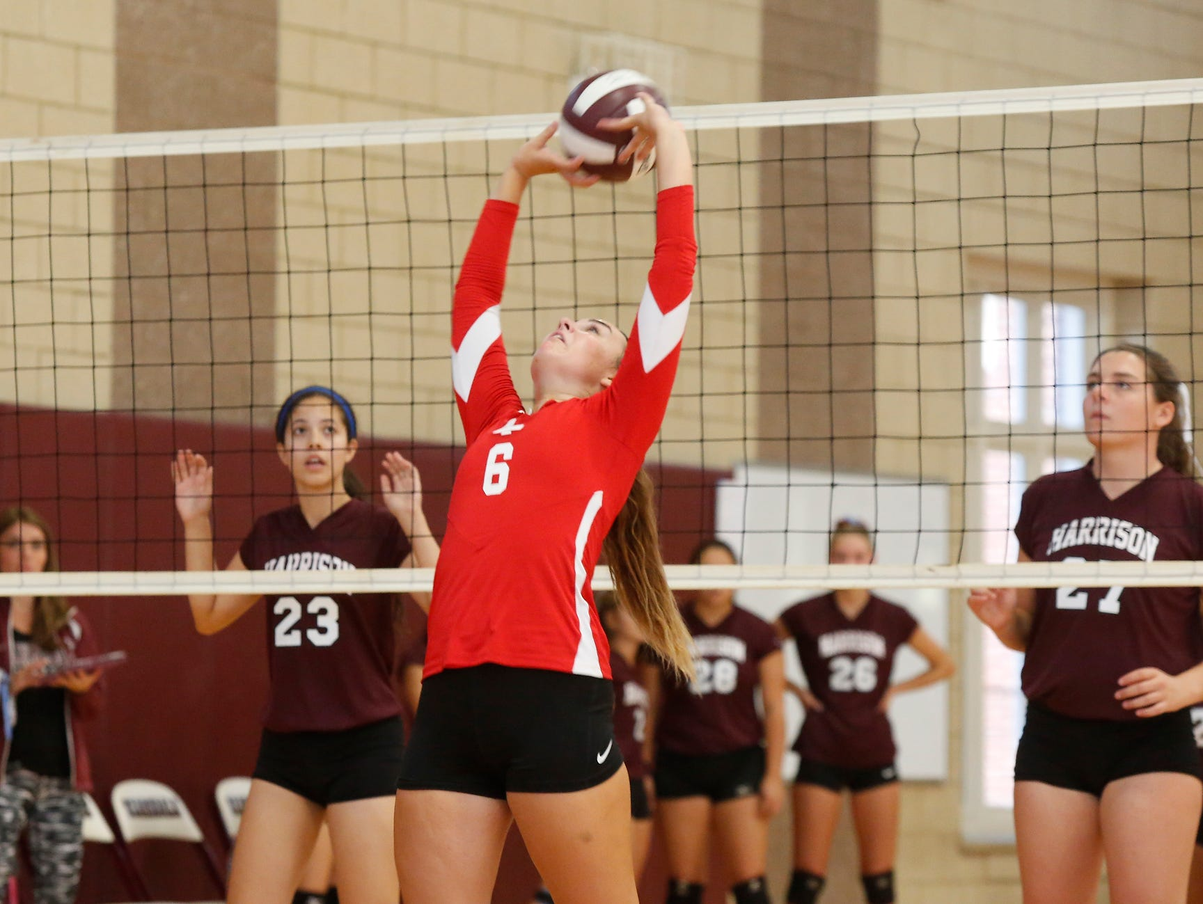 Tappan Zee setter Hailey McCloskey was named to the all-tournament team at Scarsdale on Saturday, September 17, 2016.