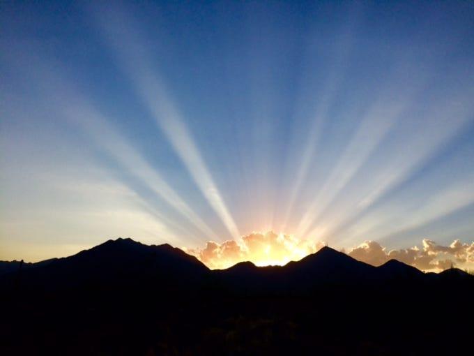Beautiful Arizona sunset.