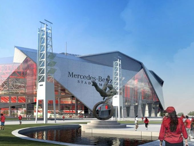 New renderings of mercedes benz stadium were released for Mercedes benz stadium atlanta hotels