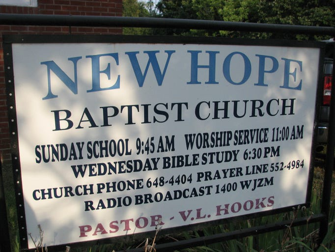 The unity rally at New Hope Missionary Baptist Church had hundreds of supporters Thursday evening. The rally was a response to a burnt cross left in front of the church last week.