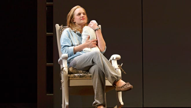 Elisabeth Moss stars in the revival of 'The Heidi Chronicles.'