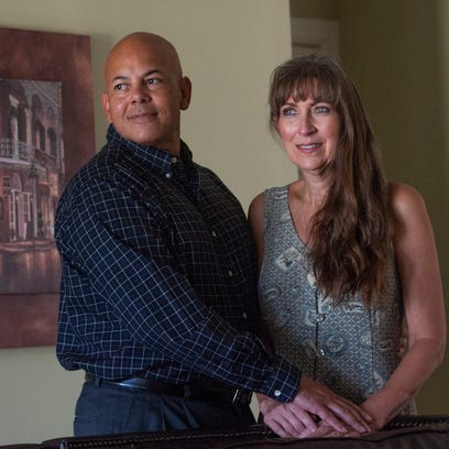 Roland Johnson and his wife Suzanne are shown at their