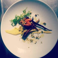 Roasted carrot salad at Bistro Le Relais