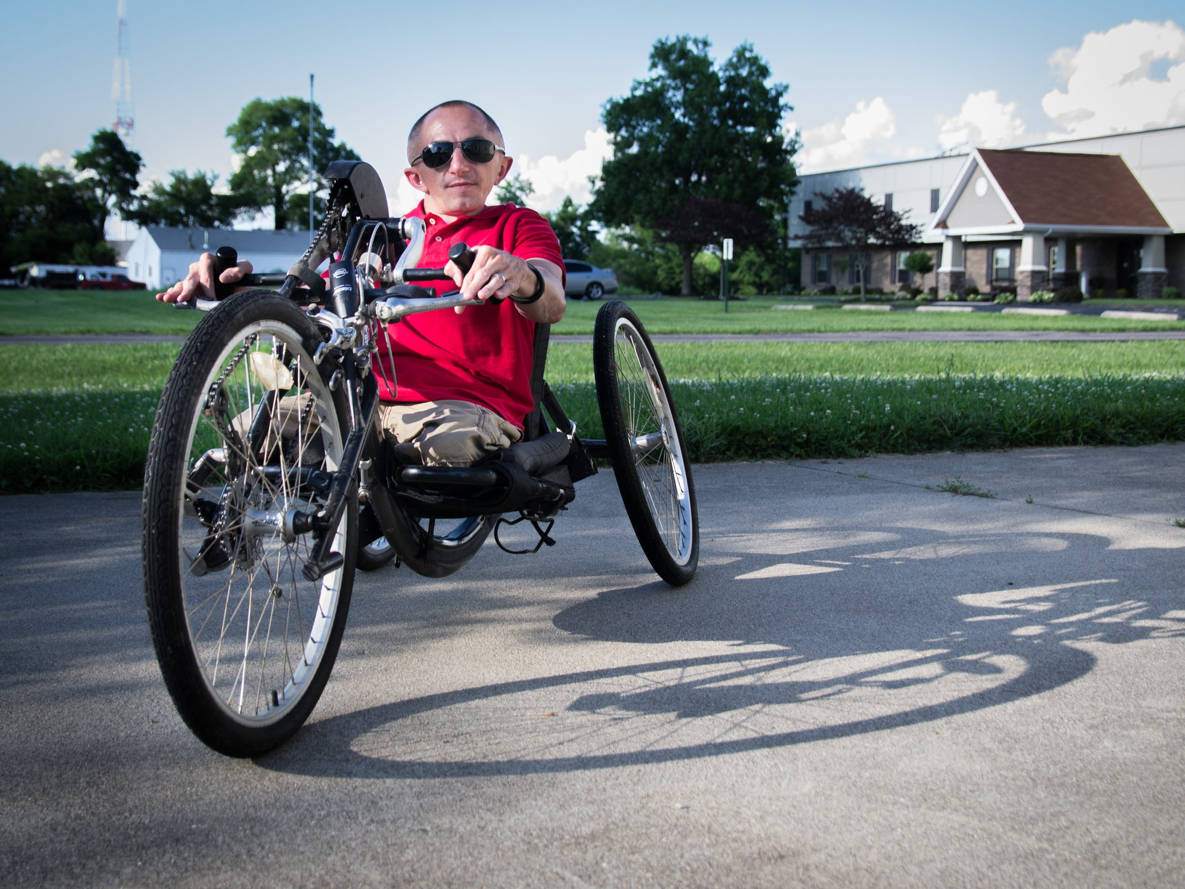 Adam Ayers works as an inclusion specialist with the Cincinnati Recreation Commission, where he works to make sure children are not limited from sports and physical activity due to a disability in addition to providing awareness of those with disabilities.