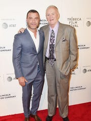 Liev Schreiber and Chuck Wepner attend the 'Chuck'