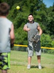 Chris Lawson, a bariatric surgery patient, has a catch