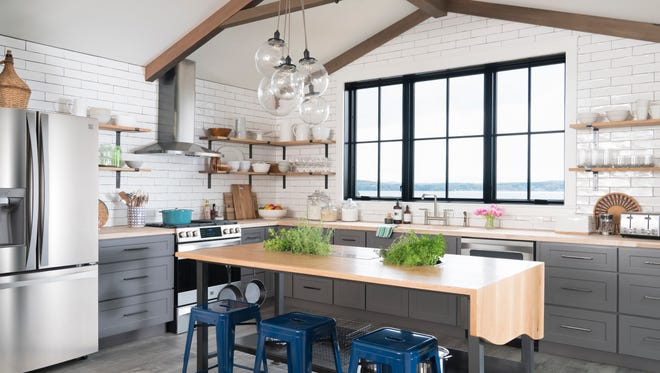 The after photo of the kitchen of the Colchester home remodeled for the DIY Network's Ultimate Retreat television show and home giveaway.