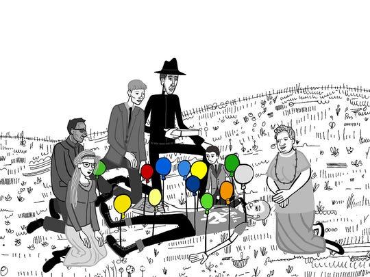 """An animation frame from """"Balloons"""" (2015) by filmmaker Joshua Mulligan, a 2016 Kresge Artist Fellow."""