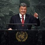 Ukrainian President Poroshenko blasts Russia