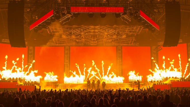 A live shot of Trans-Siberian Orchestra.