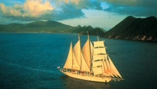 Star Clippers' 170-passenger clipper ship, the Star Flyer, sails from Monte Carlo and Cannes on one-week Tyrrhenian Sea itineraries, in August and September.