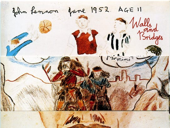 "The cover to John Lennon's 1974 album ""Walls and Bridges."""