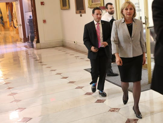 Lt. Gov. Kim Guadagno has distanced herself from the
