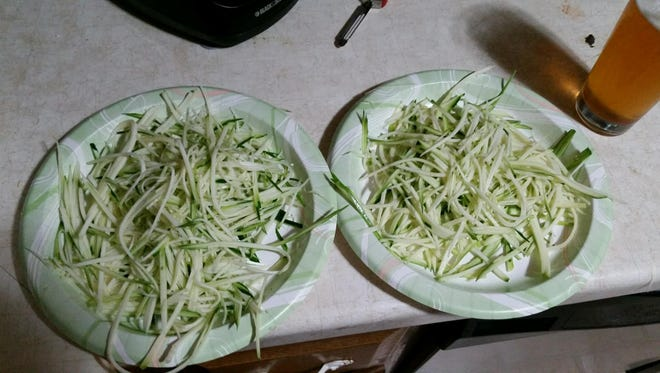 Noodles can be made out of vegetable using a spiralizer.