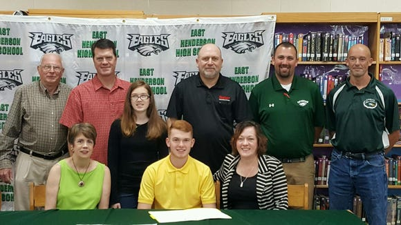 East Henderson senior Logan Burroughs has signed to run college cross country and track for Pfeiffer.