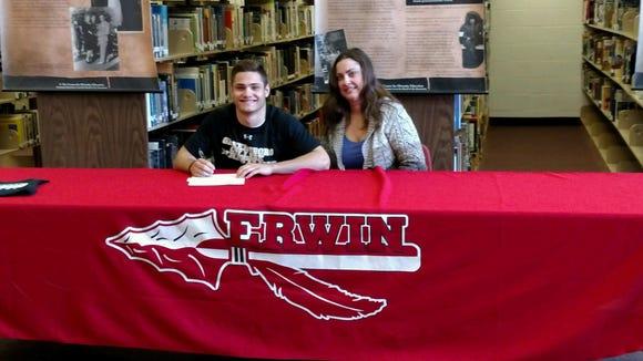 Erwin senior Conan Wilson will continue his wrestling career at the next level for Greensboro College.
