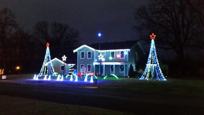 Bill Smith sets his Christmas decorations to music every year at his home on East Denney Drive in Milan, Tenn. If you view the display, set your car radio to 99.1 FM.