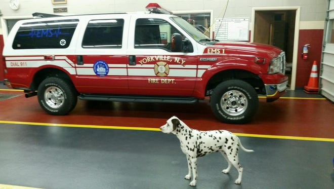 Martens Corporation installed the multi-colored floor at a firehouse in Utica, New York.