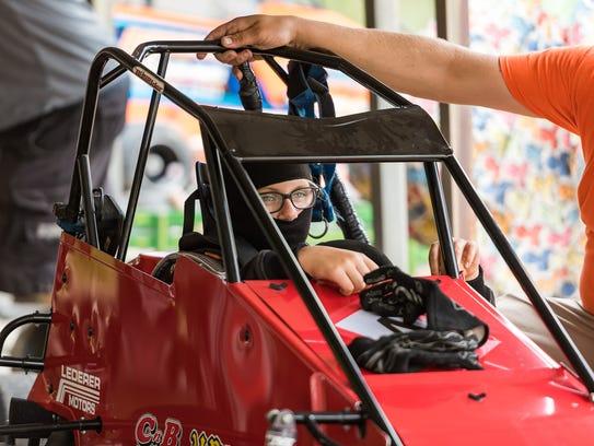 Cece Perrotti waits to race in the Senior Animal Heat
