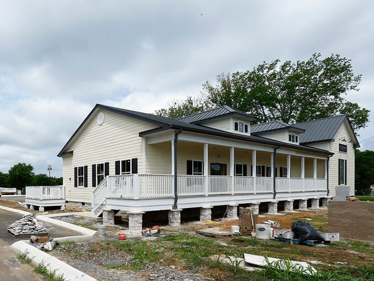 New business construction is seen Saturday, May 26,