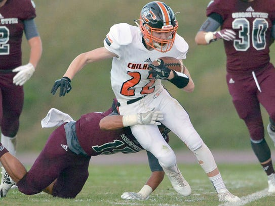 Chilhowie wide receiver Lucas Doss made several key