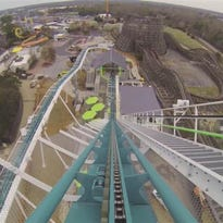 The view from Fury 325 roller coaster