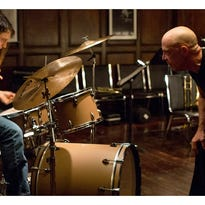 "J.K. Simmons and Miles Teller in a scene from ""Whiplash."""