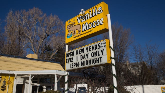Vanilla Moose, as seen here on Tuesday, is reopening for one night so patrons can celebrate New Year's with ice cream.