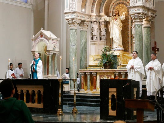 Bishop Mark Seitz celebrated mass to mark the 100th Anniversary of St. Patrick Cathedral Church, which was dedicated on November 29, 1917, and is the mother church for the diocese and bears the name of its patron saint.