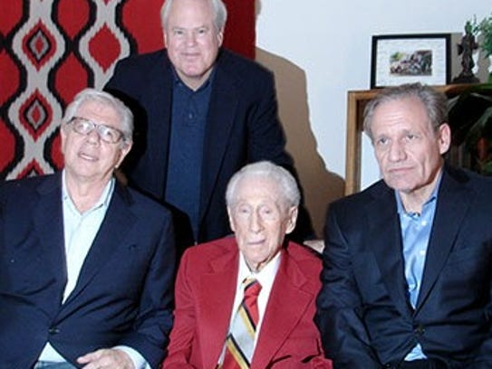 From left: Former Washington Post reporter Carl Bernstein,