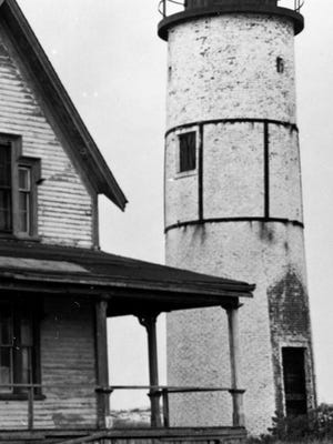 The Sandy Neck Lighthouse, as it appeared in the mid-1960s without its light.