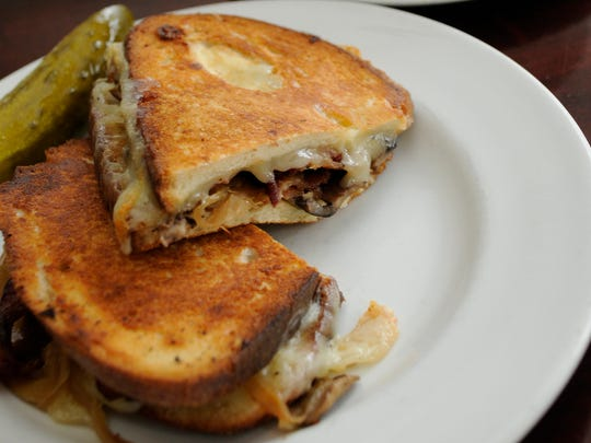 THE Grilled Cheese sandwich from Centro is packed full of bacon and mushrooms.