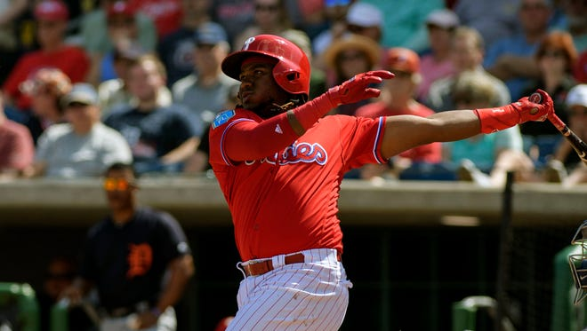 Phillies third baseman Maikel Franco has hit six home runs this spring.