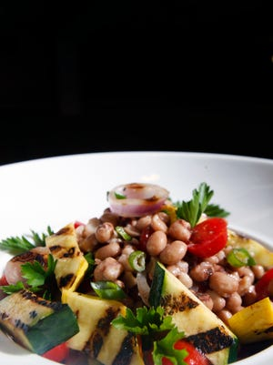 The black-eyed pea salad with grilled vegetables from Chef David Danielson of Churchill Downs.April 7, 2016