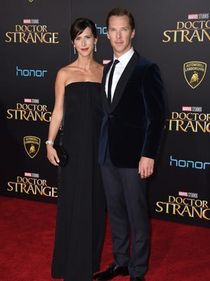 Benedict Cumberbatch and Sophie Hunter at the Los Angeles premiere of 'Doctor Strange' on Oct. 20.