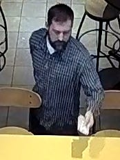 Westland police are looking for this man. Police say he took a cash payment from a table in the restaurant.