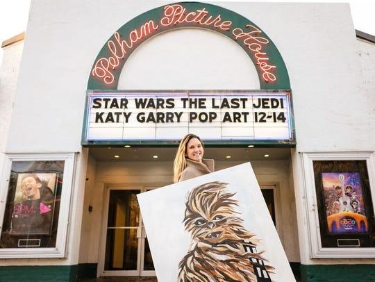 Local pop artist Katy Garry exhibits original artwork