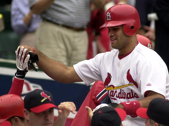 Albert Pujols of the St. Louis Cardinals was the NL Rookie of the Year in 2001.