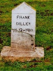 The headstone of Frank Dilley in a tiny cemetery near Mill Creek Correctional Facility is incorrect. His birth year couldn't have been 1812, because he was 17 when he died in 1910.
