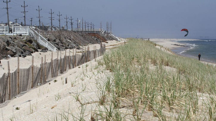 Severely eroded dunes in Beach Haven on Nov. 3, 2012.