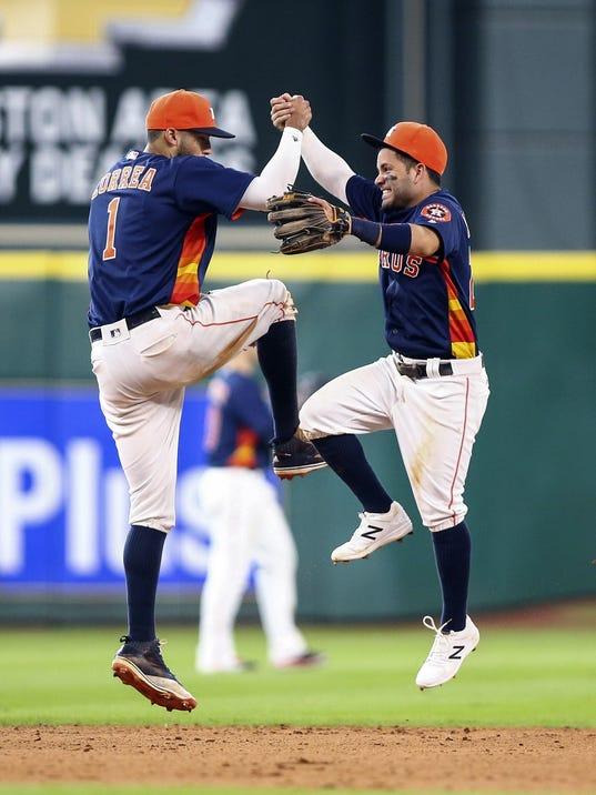 USP MLB: LOS ANGELES ANGELS AT HOUSTON ASTROS S BBA USA TX