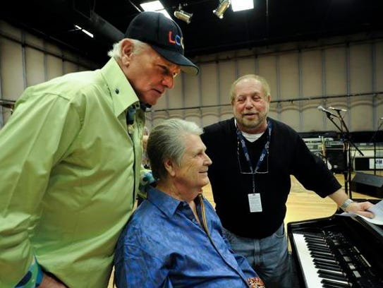 Ken Erlich, Grammy Awards show producer (right) with