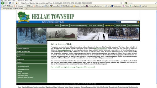 Hellam Township web page (Jim McClure's blog)submitted