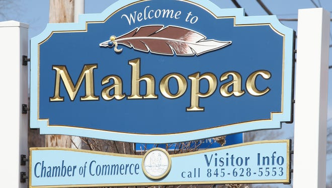 "A view of the ""Welcome to Mahopac"" sign along Route 6 in Mahopac, photographed April 3."