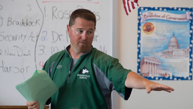 North baseball coach Jeremy Jones also teaches freshmen U.S. History. He led Bosse to the 2010 Class 3A sectional title.