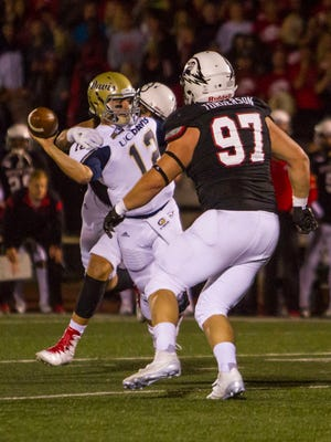 College football: UC Davis at Southern Utah, Saturday, Oct. 8, 2016. Final score: SUU 24, UCD 3.
