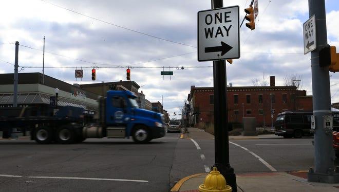 One-way street.