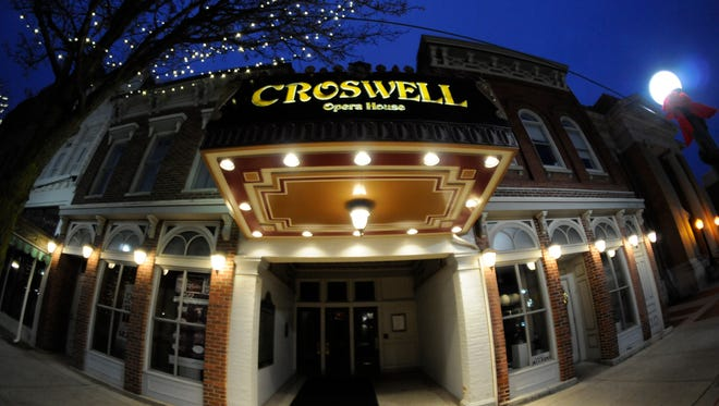 The exterior of the Croswell Opera House in downtown Adrian.